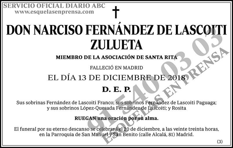Narciso Fernández de Lascoiti Zulueta